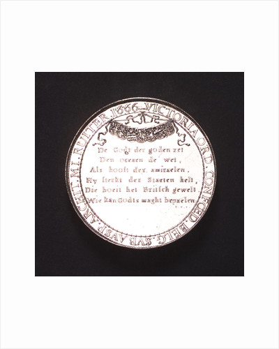 Medal commemorating the Battle of the Four Days, 1666; reverse by J. Pool