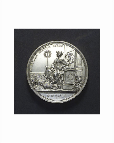 Medal commemorating the Dutch East India Company centenary, 1702; obverse by R. Arondeaux