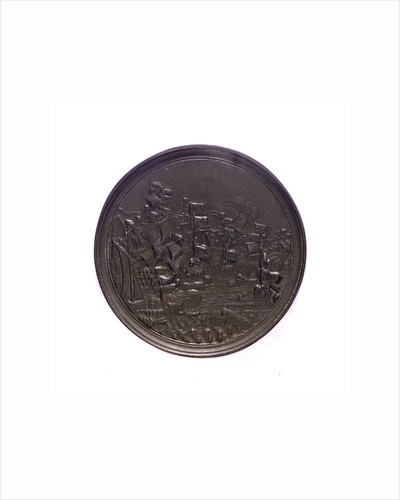Medal commemorating Admiral de Ruyter and the Four Days Battle, 1666; reverse by J. Pool