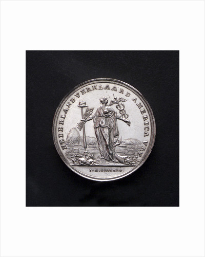 Medal commemorating the United States declared free by the Netherlands; obverse by J.M. Lageman