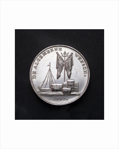 Medal commemorating the United States declared free by the Netherlands; reverse by J.M. Lageman