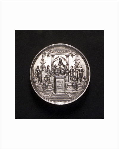 Medal commemorating the Battle of La Hogue, 1692; obverse by George Hautsch