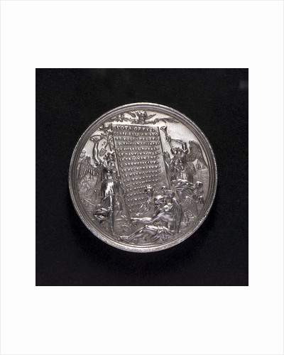 Medal commemorating the Battle of La Hogue, 1692; reverse by George Hautsch