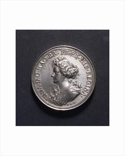 Medal commemorating British victories, 1704; obverse by P.H. Muller
