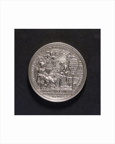 Medal commemorating British victories, 1704; reverse by P.H. Muller