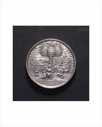 Medal commemorating British victories, 1704; reverse by G. Hautsch