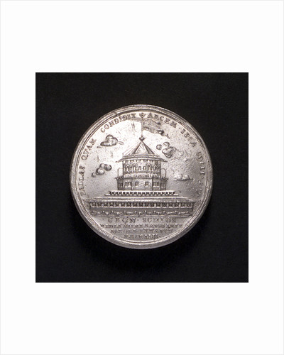 Medal commemorating the construction of the fortress of Cronstadt, 1704; obverse by P.H. Muller