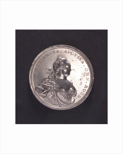 Medal commemorating the inauguration of Cronstadt Harbour, 1752; obverse by T. Iwanov