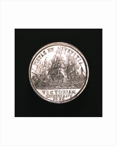 Medal commemorating the Battle of Öland, 1676; reverse by unknown