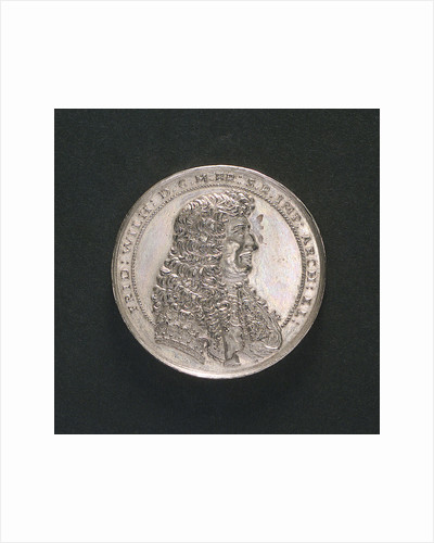 Medal commemorating the voyage to Guinea, 1681; obverse by J.B. Schultz