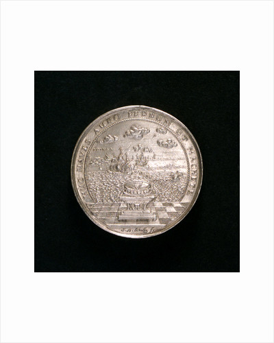 Medal commemorating the voyage to Guinea, 1681; reverse by J.B. Schultz