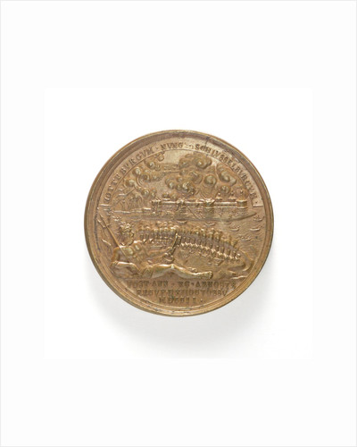 Medal commemorating the capture of two Swedish ships, 1703; obverse by T. Iwanov
