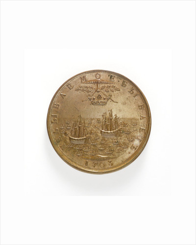 Medal commemorating the capture of two Swedish ships, 1703; reverse by unknown