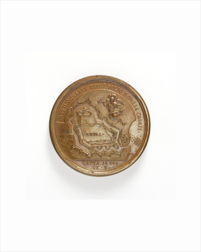 Medal commemorating the capture of Reval, 1705; reverse by T. Iwanov