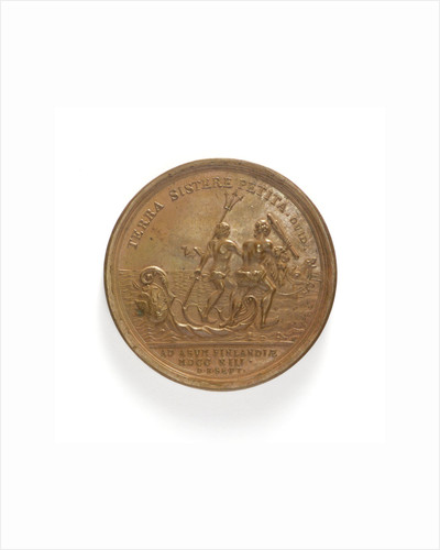Medal commemorating the capture of Abo, 1713; reverse by T. Iwanov