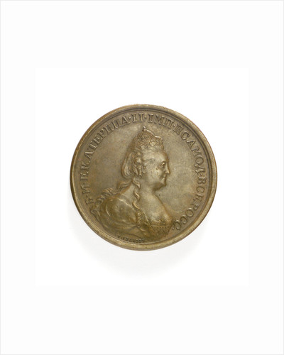 Medal commemorating the capture of Ochakov, 1788; obverse by T. Iwanov