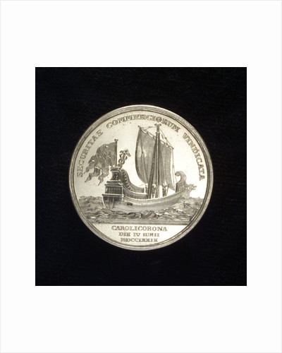 Medal commemorating the protection of sea trade; reverse by Gustav Ljungberger