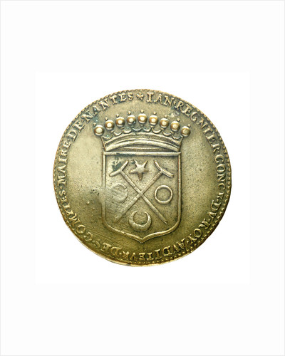 Counter commemorating J. Regnier, King's Equerry, Lord of La Souchais; obverse by unknown