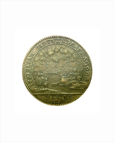 Counter commemorating the British bombardment of St Malo, 1696; reverse by H.