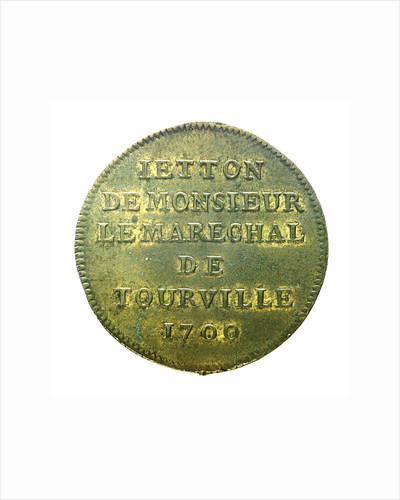 Counter commemorating Admiral de Tourville (1642-1701); reverse by unknown