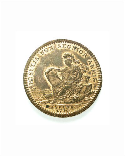 Counter commemorating the navy active in time of peace; reverse by J. Duvivier
