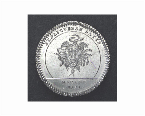 Counter commemorating the dispatch of a squadron to Danzig, 1735; reverse by unknown