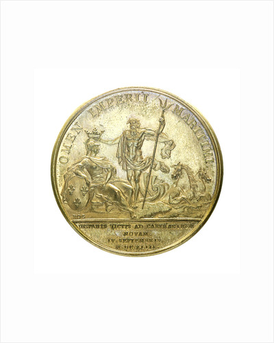 Medal commemorating the Battle of Cartagena, 1643; reverse by J. Mauger