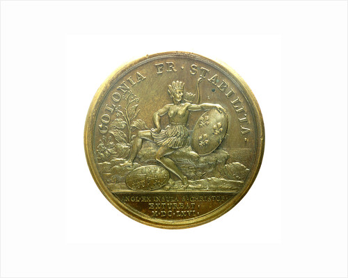 Medal commemorating the capture of St Christopher, 1666; reverse by J. Mauger
