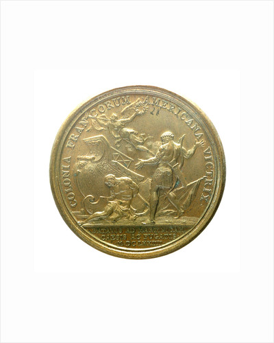 Medal commemorating the Dutch attack on Martinique repulsed, 1674; reverse by J. Mauger