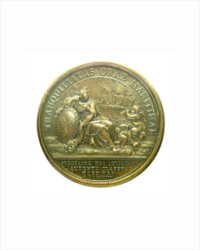 Medal commemorating the attack on Belle Isle, 1674; reverse by J. Mauger