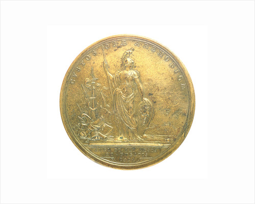 Medal commemorating the Expedition to Brest, 1694; reverse by H. Roussel