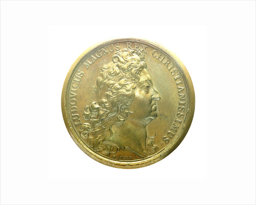 Medal commemorating the Expedition to Brest, 1694; obverse by J. Mauger