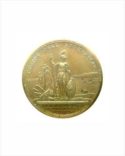 Medal commemorating the Expedition to Brest, 1694; reverse by J. Mauger