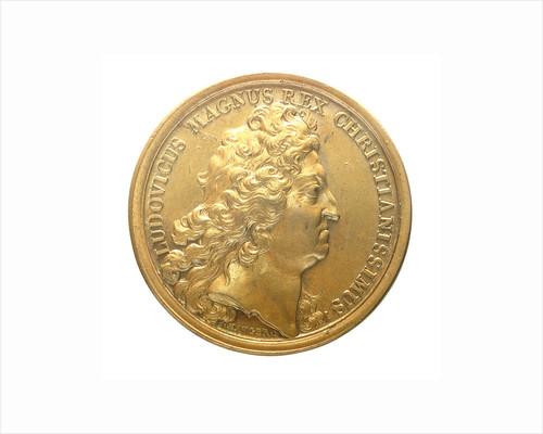 Medal commemorating Admiral Jean Bart recapturing the corn fleet, 1694; obverse by J. Mauger