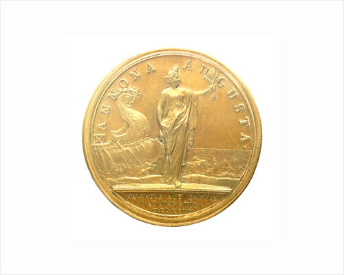 Medal commemorating Admiral Jean Bart recapturing the corn fleet, 1694; reverse by J. Mauger