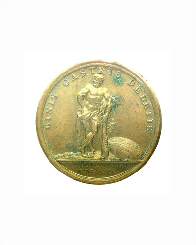 Medal commemorating the capture of Barcelona, 1697; reverse by J. Mauger