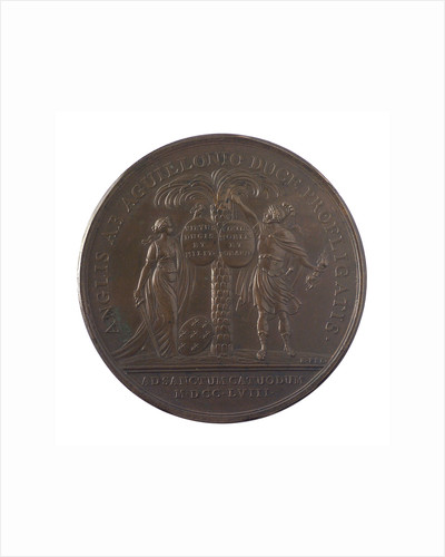 Medal commemorating the action at Saint Cast, 1758; reverse by J.C. Roettier