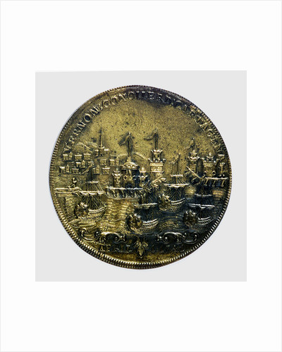 Commemorative medal depicting Vernon's attack on Cartagena, 1741; reverse by unknown
