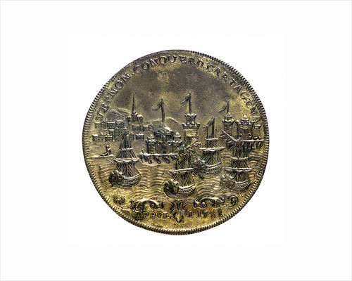 Medal commemorating Vernon's attack on Cartagena and proposed attack on Havana, 1741; reverse by unknown