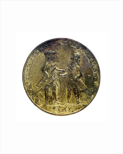 Medal commemorating Admiral Edward Vernon (1684-1757) and Admiral Sir Chaloner Ogle (1681?-1750), the attack on Cartagena, 1741; obverse by unknown