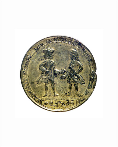 Medal commemorating Admiral Edward Vernon (1684-1757) and Admiral Edward Vernon (1684-1757), the attack on Cartagena, 1741; obverse by unknown