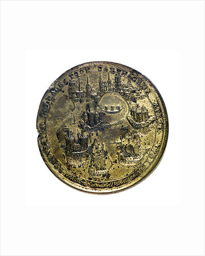 Medal commemorating Admiral Edward Vernon (1684-1757) and Admiral Edward Vernon (1684-1757), the attack on Cartagena, 1741; reverse by unknown