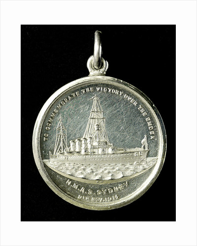 Medal commemorating the destruction of the 'Emden', 1914; obverse by A.W.