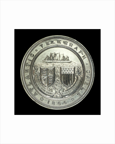 Medal commemorating laying of the Atlantic cable, 1866; obverse by J.S.