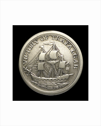 Counter commemorating Vice-Admiral Horatio Nelson (1758-1805) and the Battle of Trafalgar, 1805; reverse by unknown