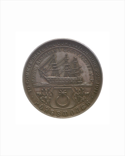 Medal commemorating the Coronation of George V, 1911; reverse by unknown