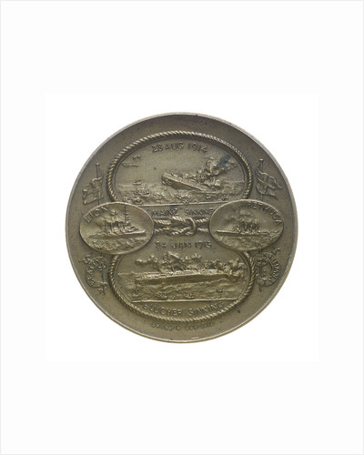 Medal commemorating the Battles of Heligoland Bight, 1914 and Dogger Bank, 1915; obverse by Marquis of Milford Haven