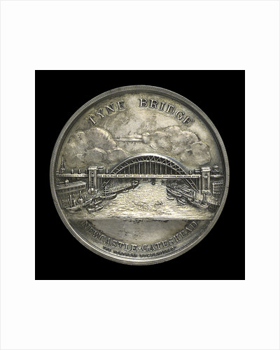 Medal commemorating the opening of the Tyne Bridge, 1928; obverse by Northern Goldsmiths Co.