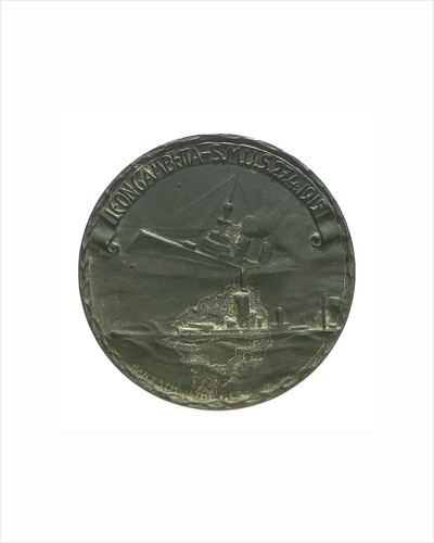 Medal commemorating the sinking of 'Leon Gambetta' by U5, 1915; obverse by Hans Schwathe
