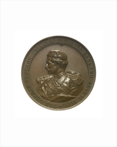 Medal commemorating the visit of Kaiser Wilhelm II, 1889; obverse by Lauer Bros.